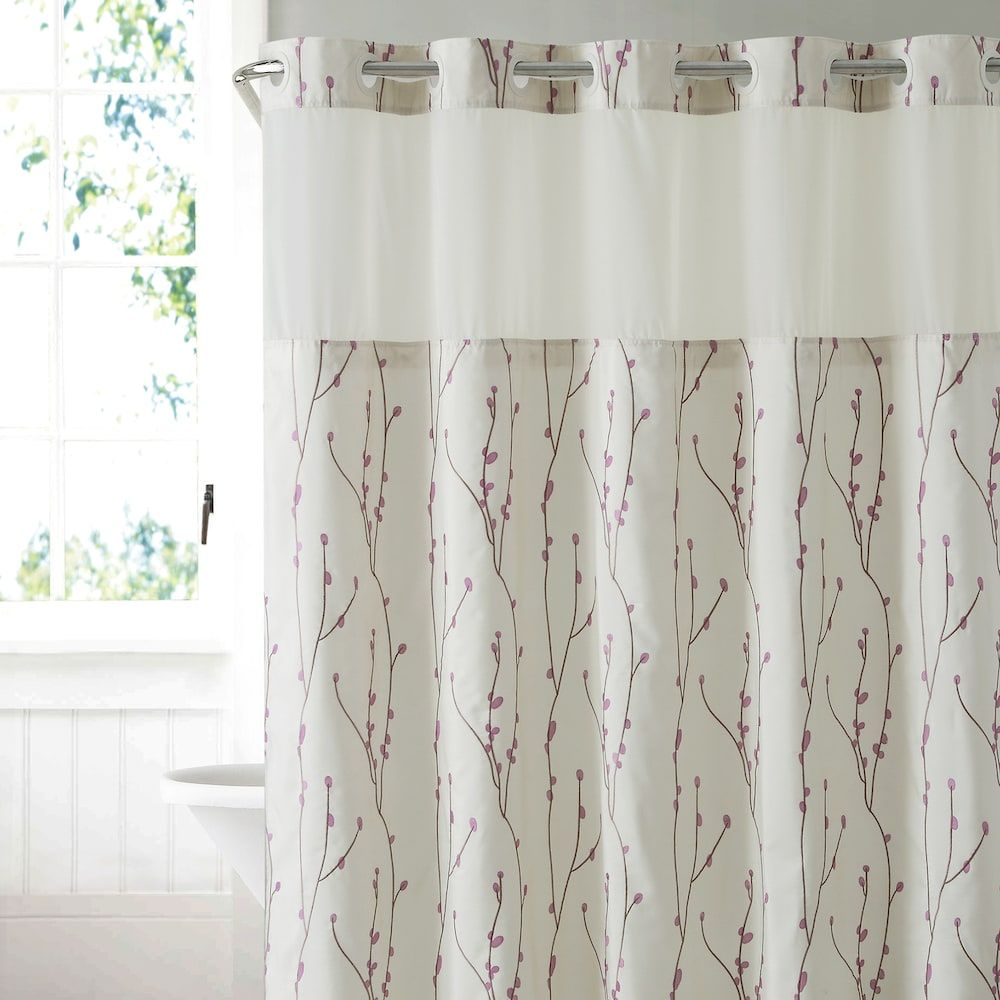 Hookless Cherry Bloom Shower Curtain Liner Shower Curtains