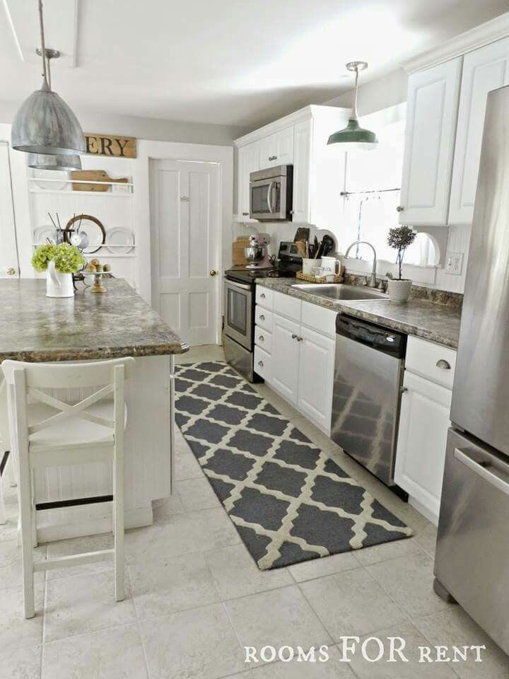 Want A Long Runner Rug For My Kitchen Great Idea With Images