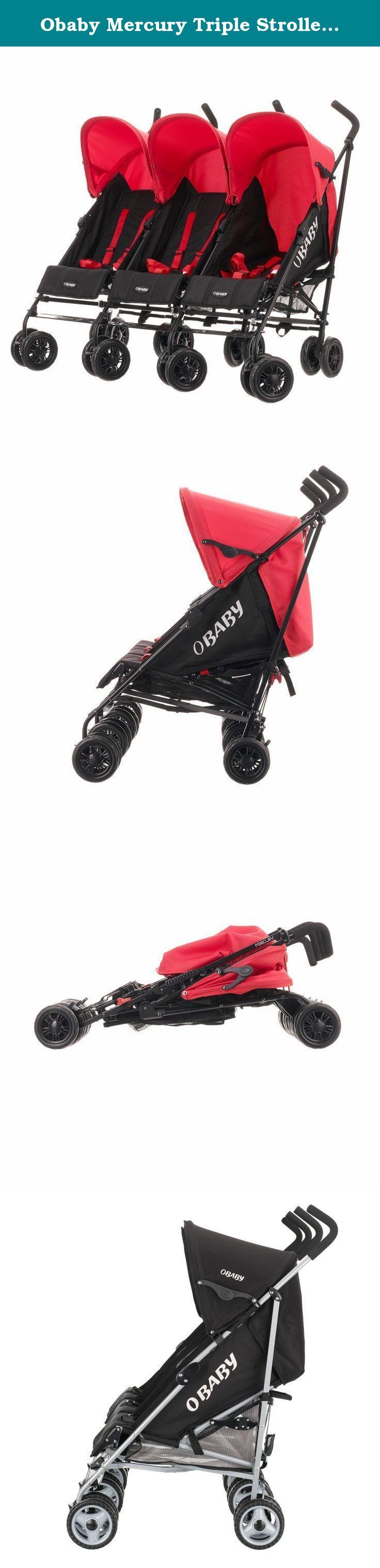 Obaby Mercury Triple Stroller Black//Red