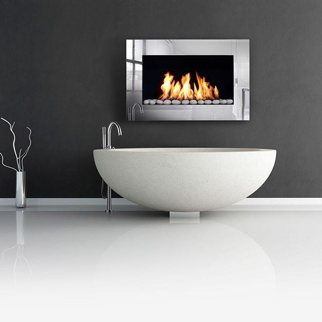 Bioethanol Fire In Bathroom Google Search Bioethanol Fireplace Ethanol Fireplace Home Reno