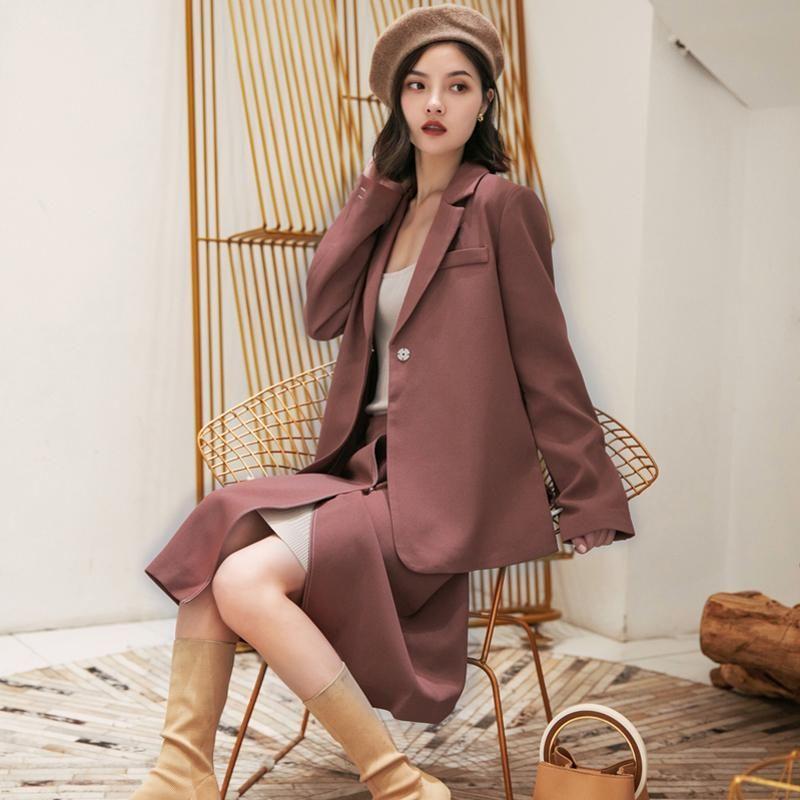 Autumn Loose Women Skirt Suits