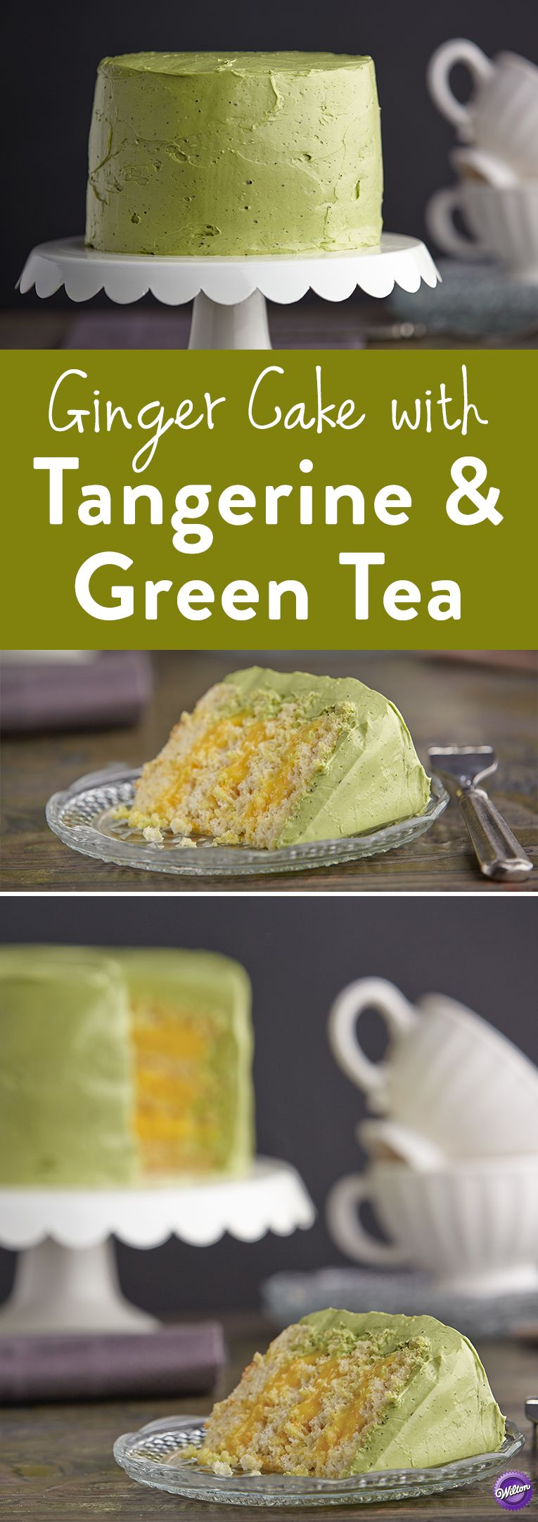 Ginger Cake With Tangerine And Green Tea Recipe