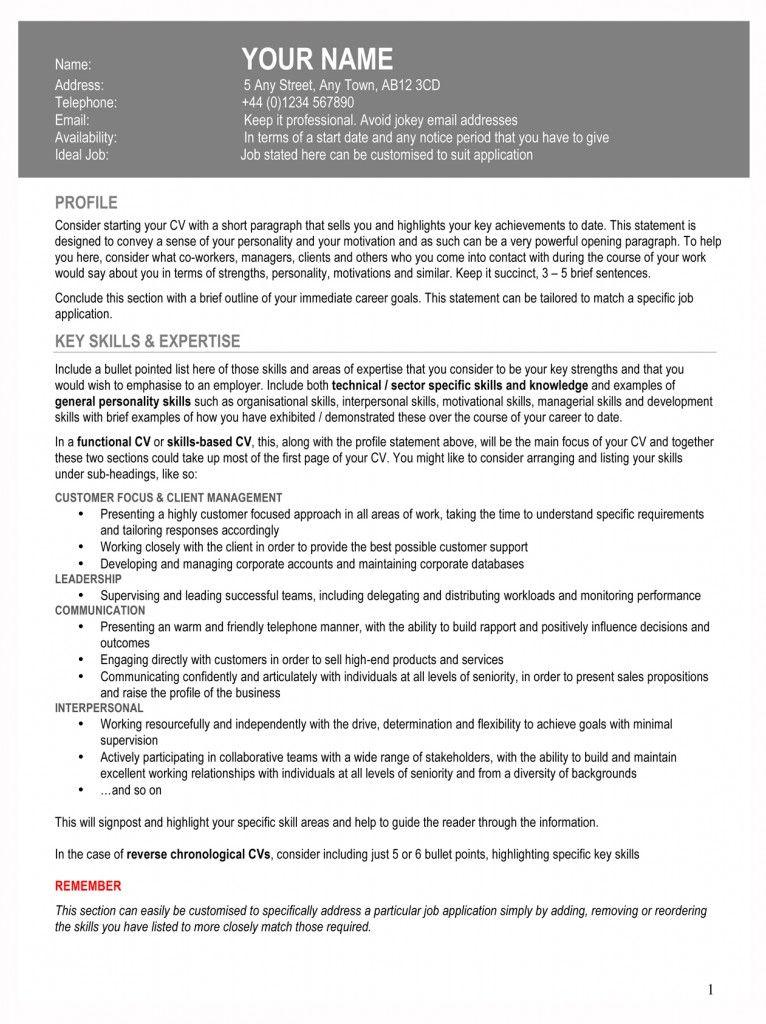 Rachel Vincent CV guidelines Resume format, Resume