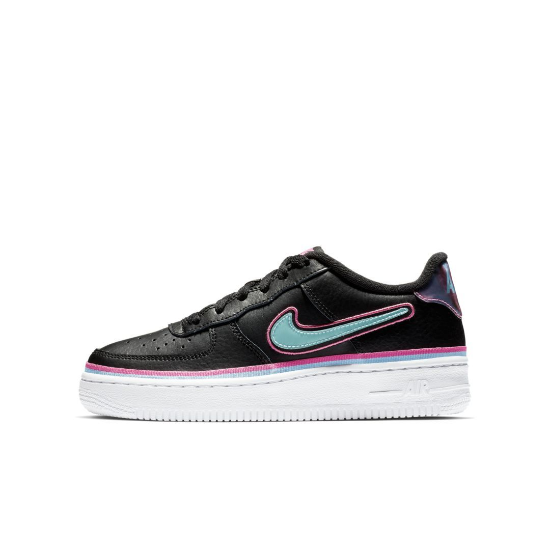 promo code 78541 94531 Nike Air Force 1  07 LV8 Sport NBA Big Kids  Shoe Size 4.5Y (Black)