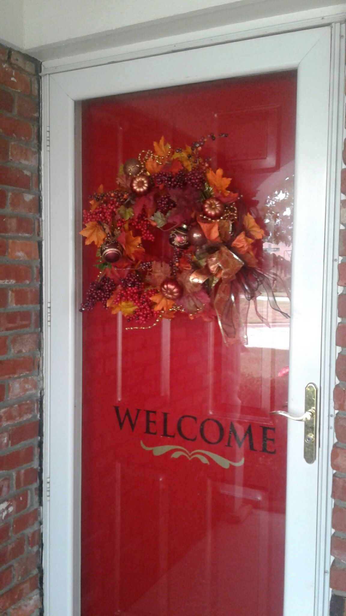 Fall wreath most bought from the dollar tree fall decor pinterest