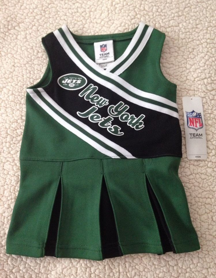 695aa9b20 NFL New York Jets Baby Toddler Cheerleader Jumper Outfit Dress Size 18M-4T