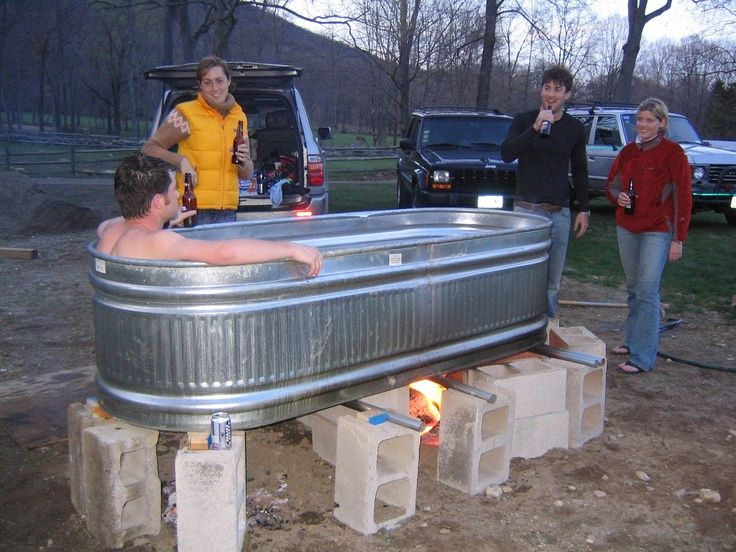 My Hot Tub On Pinterest Hot Tubs Rubbermaid Stock Tank