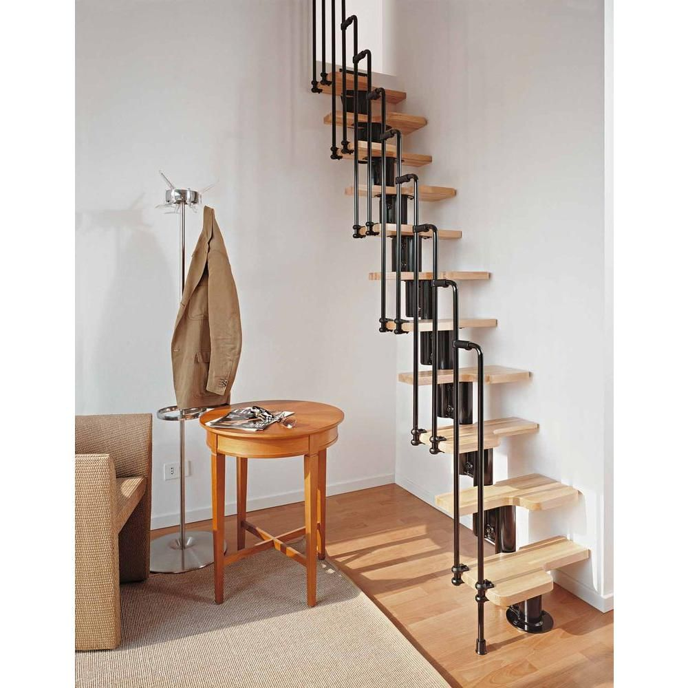 Arke Karina Black Modular Staircase Kit K33023 At The Home Depot