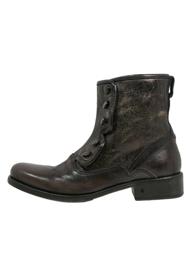 John Varvatos Bowery Botki Coal Zalando Pl John Varvatos Combat Boots Boots