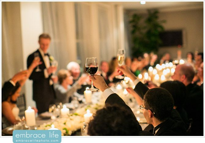Cheers to the new couple at their wedding in our Royal Suite. Photo compliments of Embrace Life Photography