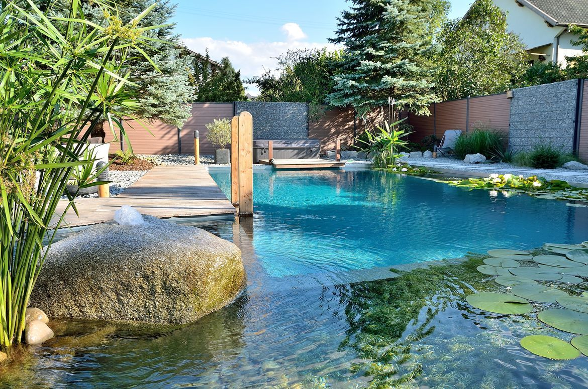 Pool Garten Chlor Biotop Swimming Teich Wohnen Outdoor Pinterest