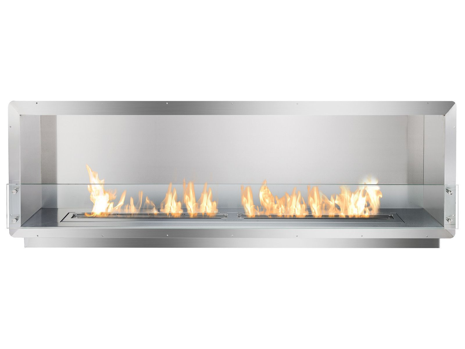 bioethanol fireplace insert 1 sided fire line automatic 3 planika
