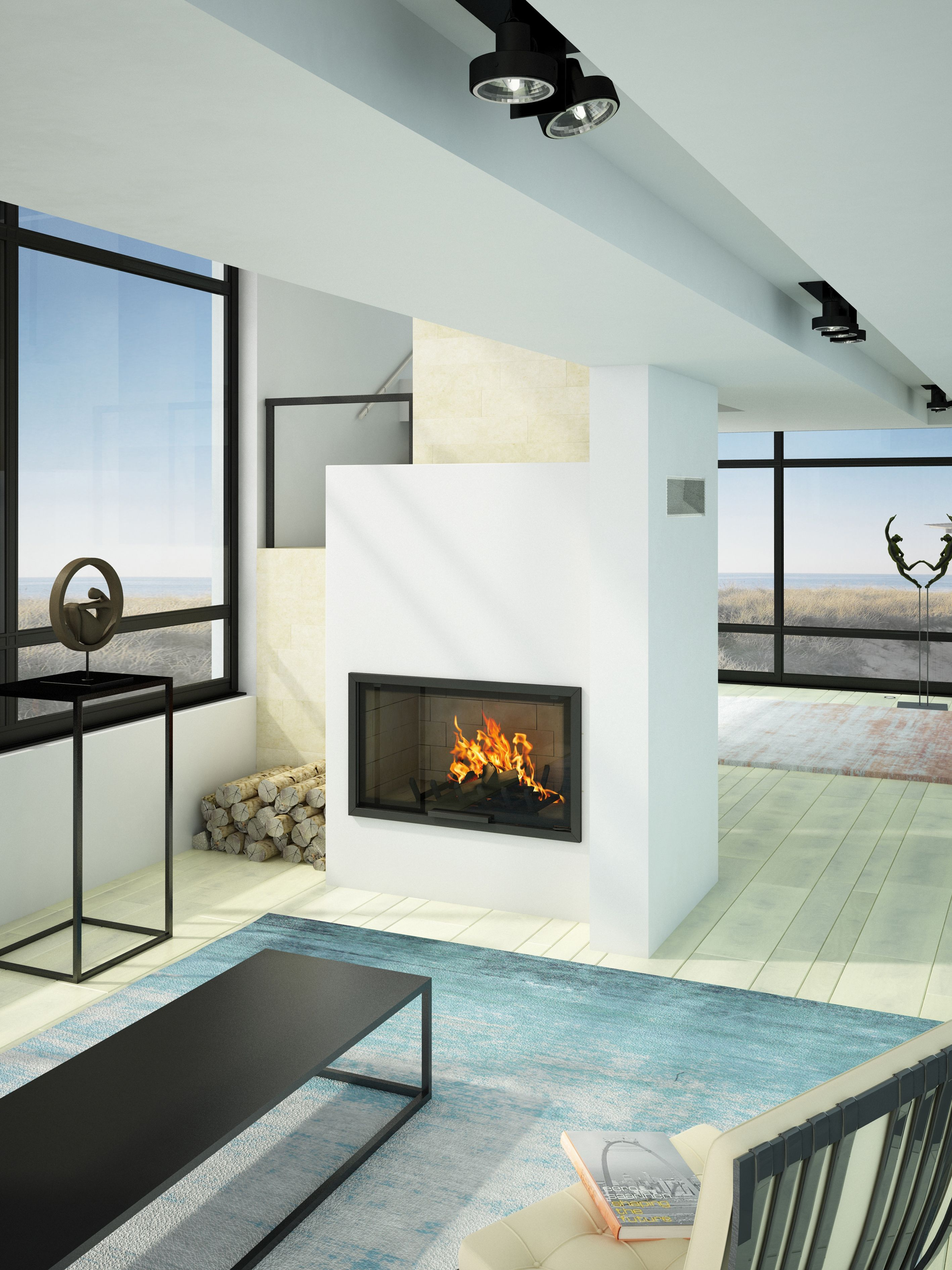 AXIS H1200 contemporary inbuilt fireplace The artisan