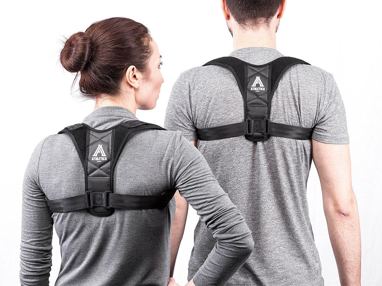 Athletics Armour Correction de Posture - Support droit pour dos et épaules pour  homme, femme et enfants - Ceinture dorsale avec coussinets Extra Mousse ... 6898c5bbedc