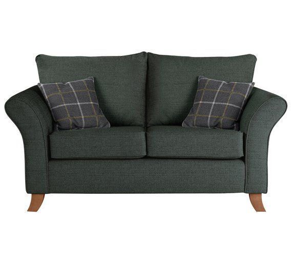 Home Kayla 2 Seater Fabric Sofa Charcoal