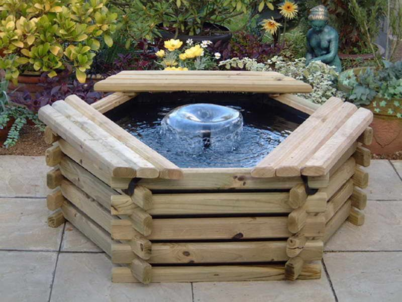 Water Fountains For Gardens Design With Wooden Board With Images Solar Fountain Water Fountain Design Garden Water Fountains