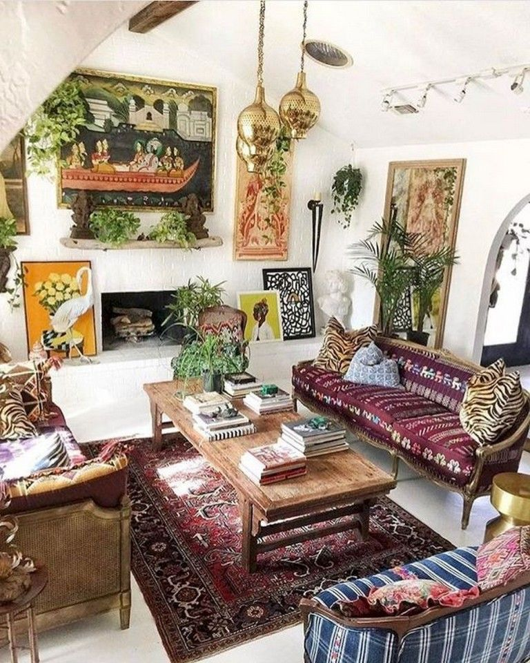 80 Awesome Bohemian Living Room Decor Ideas is part of Awesome Bohemian Living Room Decor Ideas - image source  pinterest com
