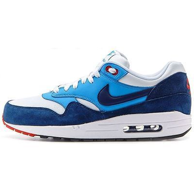 premium selection 74440 ace5c Nike Air Max 1 Essential Mens 537383-119 White Navy Blue Running Shoes Size  11.5