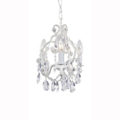 Hampton bay 3 light white mini chandelier 62 tables and closet hampton bay 3 light white mini chandelier aloadofball Gallery
