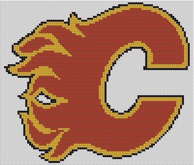 Counted Cross Stitch Pattern Calgary Flames Logo Instant Download Pdf Pattern Hand Designe Cross Stitch Patterns Cross Stitch Counted Cross Stitch Patterns