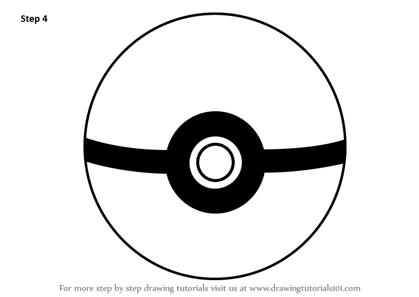 Learn How To Draw Pokeball From Pokemon Pokemon Step By Step Drawing Tutorials Pokemon Pokemon Coloring Pokemon Coloring Pages