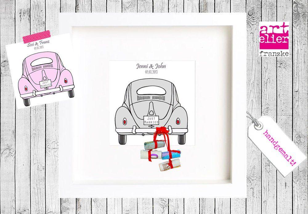 Geldgeschenk Hochzeit Vw Kafer Autobuchsen Art