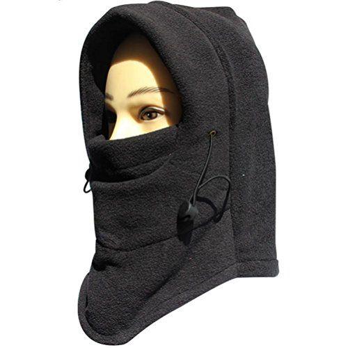 c498f2a9789 FUYI Women s Windbreak Warm Fleece Neck Hat Winter Ski Full Face Mask Cover  Cap FUYI