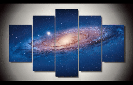 5 Panel The Universe Space Framed Wall Canvas Art