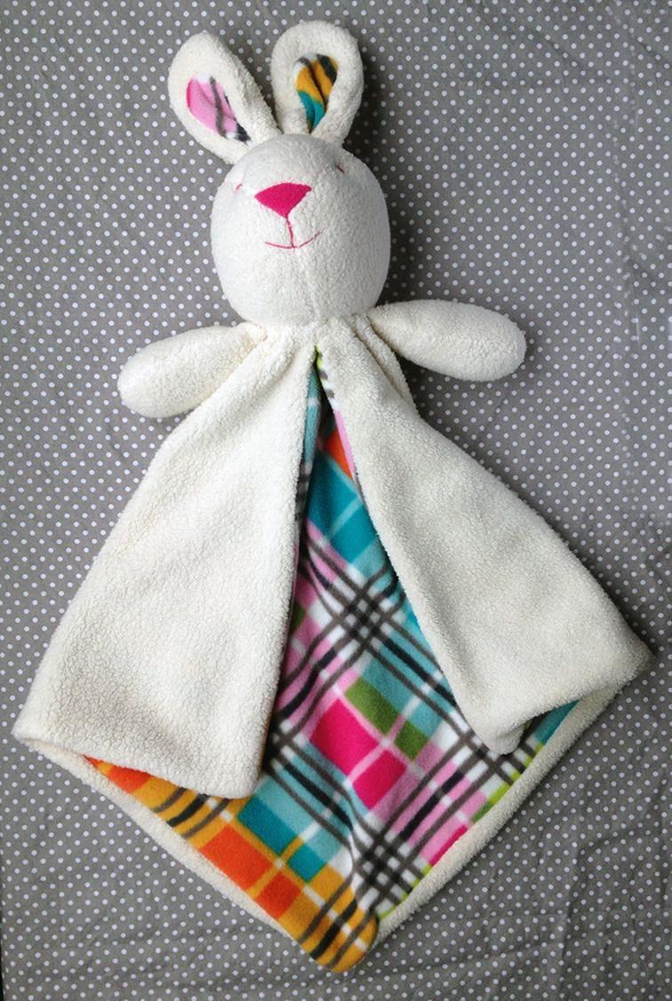 Bunny Lovey Baby Security Blanket   Bluprint