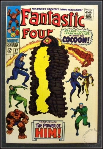 The Fantastic Four Comic No 67 October 1967 Marvel Comics Within The Cocoon | eBay