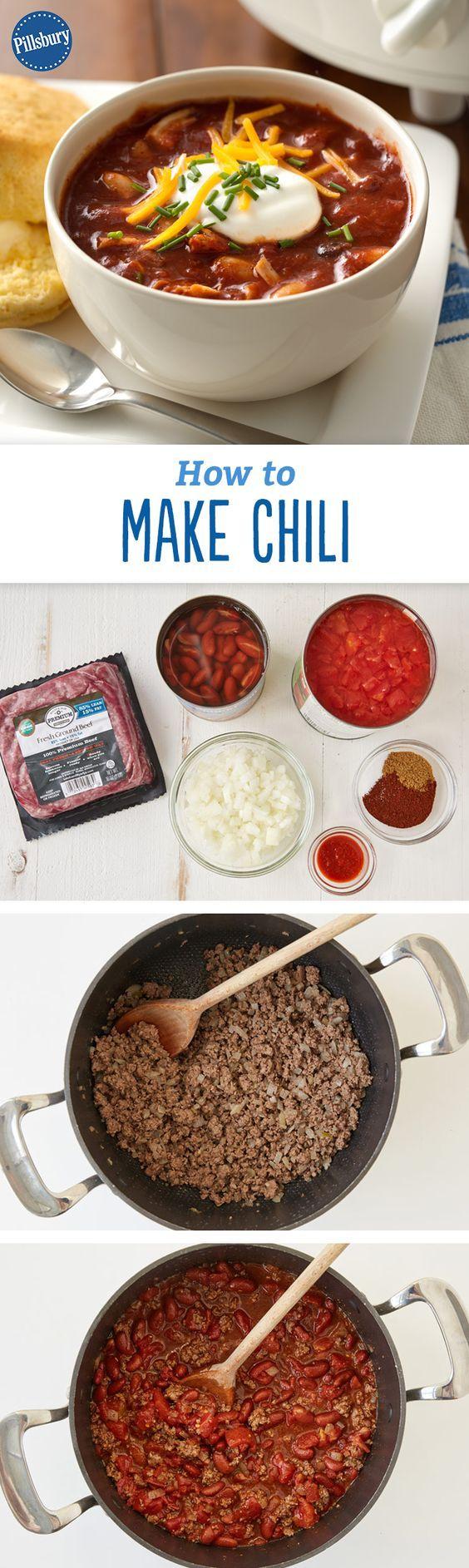 Chili Recipe chili recipes How to make chili, Chilli