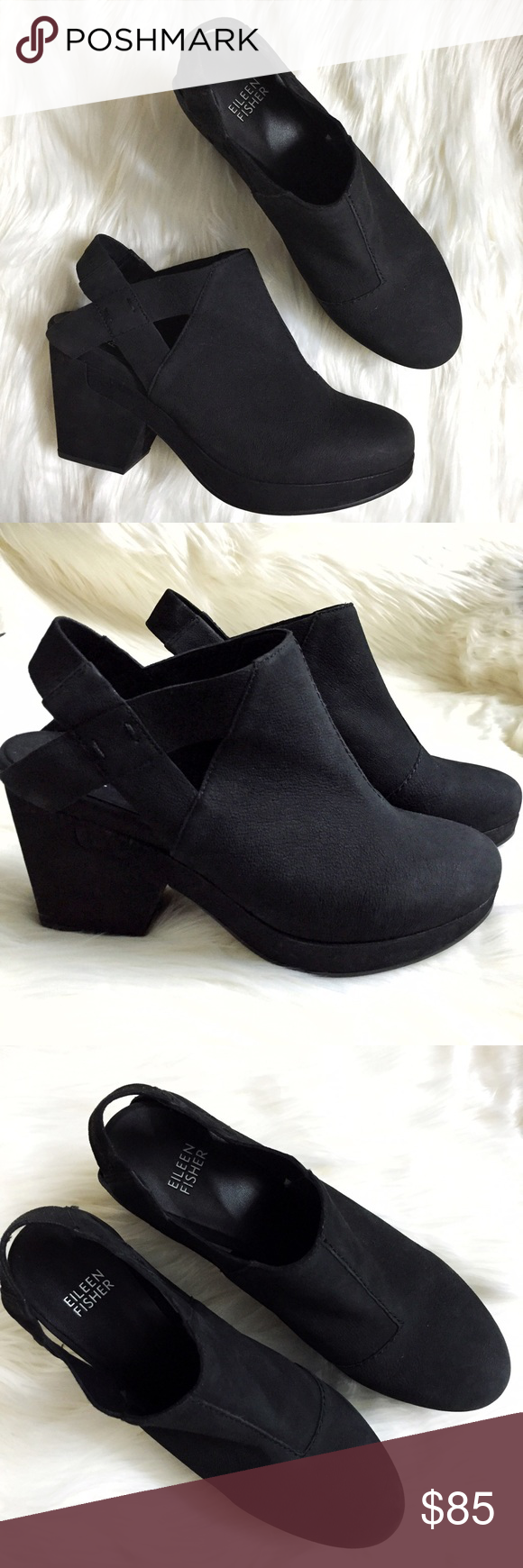 7865f52a82a Eileen Fisher Grip Platform Clog Booties Boots Brand new WITHOUT tags or  box