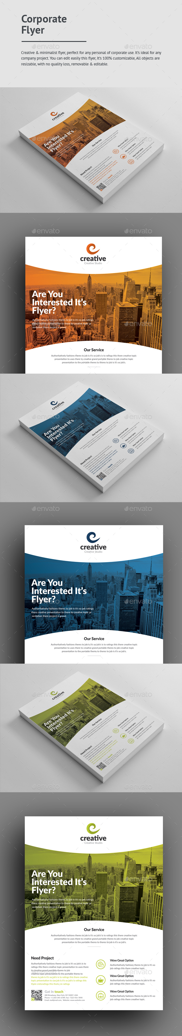 #Corporate #Flyer - Corporate Flyers Download here: https://graphicriver.net/item/corporate-flyer/19260556?ref=alena994