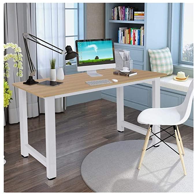 Amazon Com Kcper Home Office Computer Desk Computer Table Office Desk Writing Desk Pc Laptop Study Table Wo In 2020 Wood Computer Desk Computer Desks For Home Pc Desk