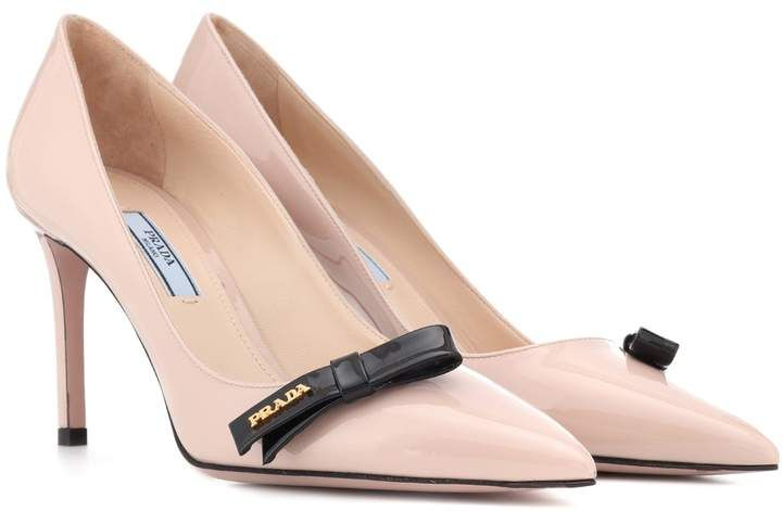 76b3cbf4c67 Prada Patent leather pumps - love these soft pink pumps. Classy and pretty  with small Prada bow