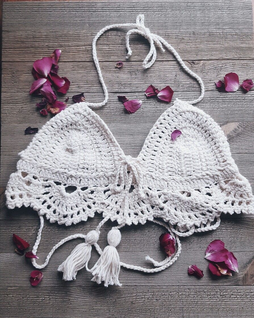 Finished this beauty this morning. Handcrafted crochet crop top.