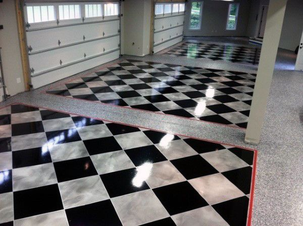 90 Garage Flooring Ideas For Men Paint Tiles And Epoxy Coatings