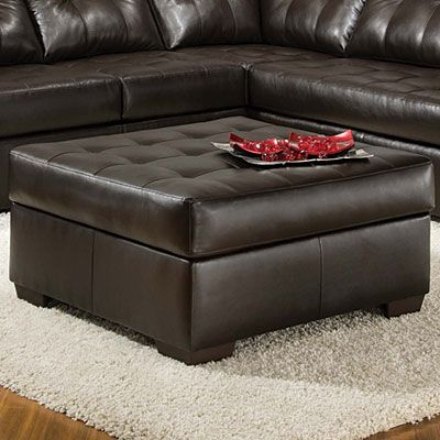 Simmons Manhattan Ottoman Leather Living Room Set Ottoman Furniture Living Roon