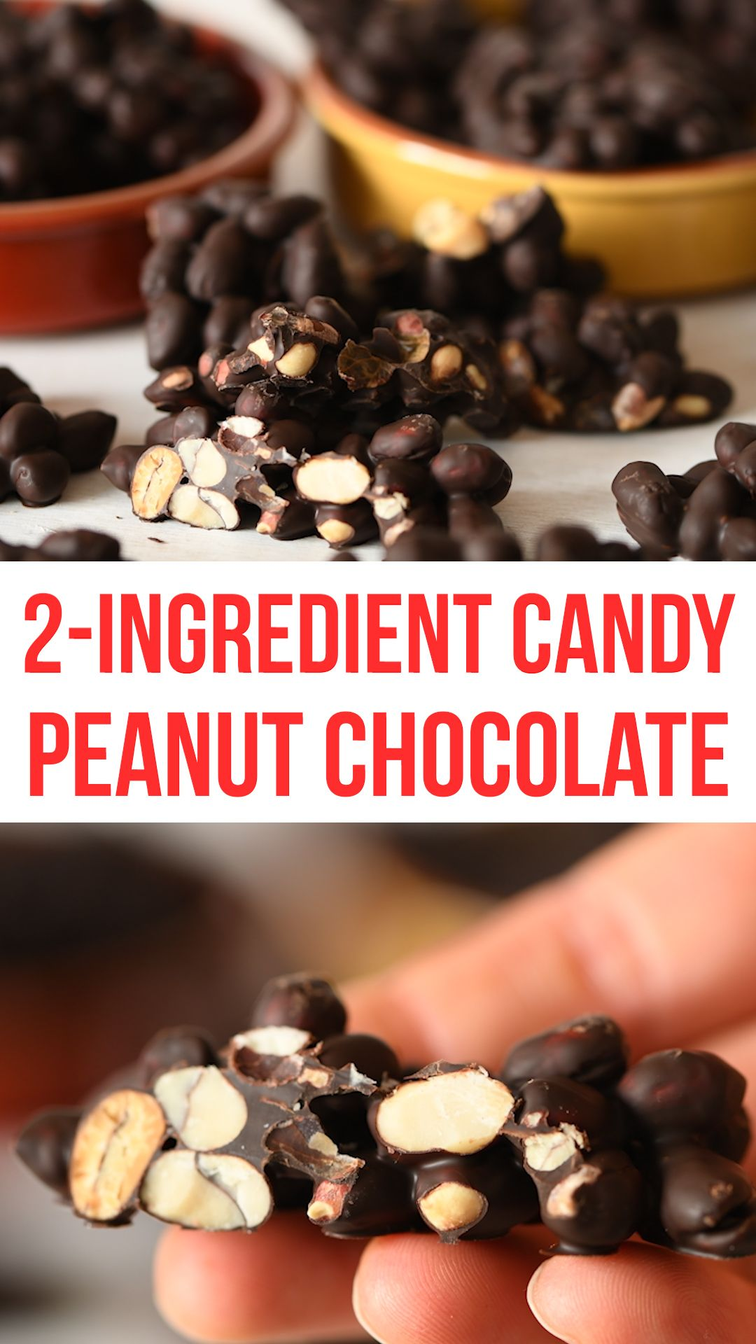 Photo of 2-ingredient Peanut Chocolate Candy