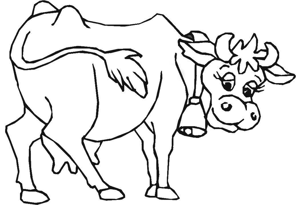 Kuh Ausmalbild Ausmalbilder Für Kinder шаблоны