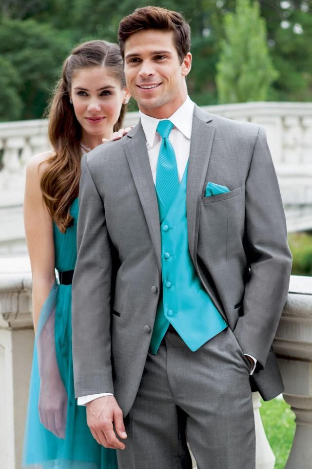 gray and turquoise tuxedos | Stephen Geoffrey Grey Aspen Slim Fit ...