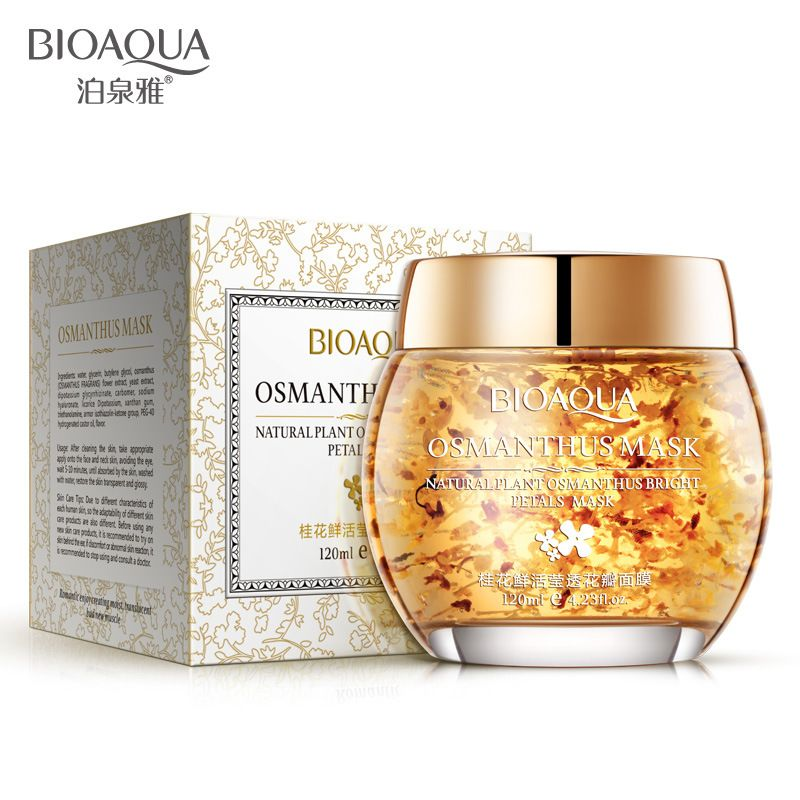 BIOAQUA Mask Plant Osmanthus Bright Petals Clay Sleeping Nourishing Moisturizing Acne Beauty Face Care Treatment Facial Mask