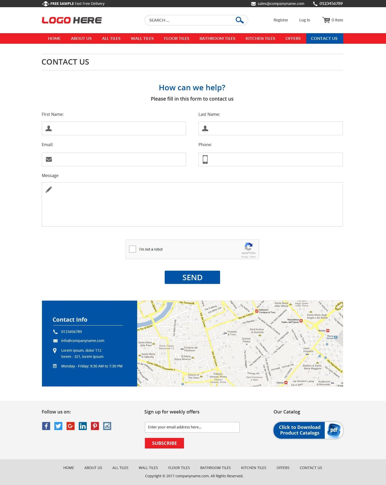 Tiles business free website templates | Free PSD Design | Pinterest ...