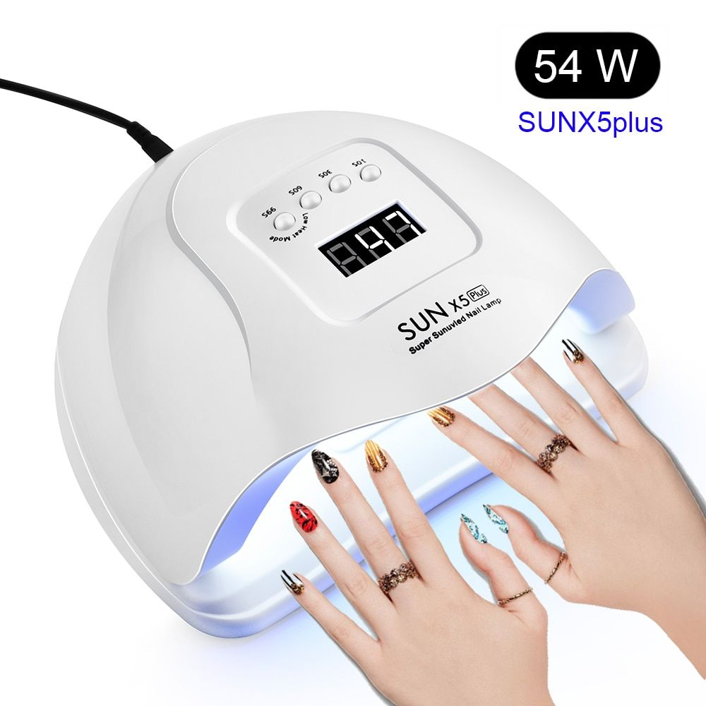 Sun X 5 Plus 54 36w Led Lamp Nail Dryer 36 Leds Uv Ice Lamp For Drying Gel Polish 10 30 60 99s Timer Auto Sensor Manicure Nail Dryer Manicure Tools Gel Polish
