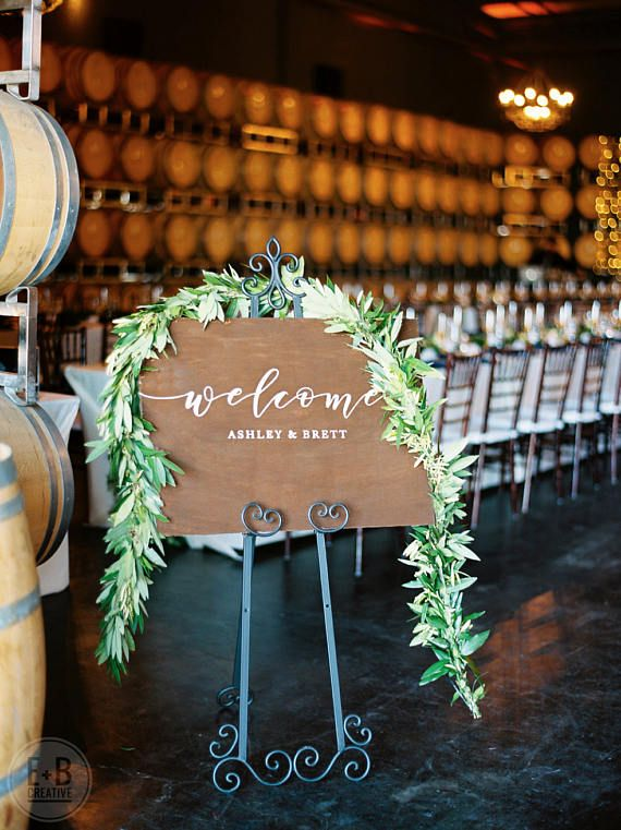Custom Wedding Welcome Sign  welcome to our beginning