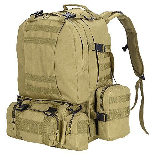 bc611e71cbc8 55L Outdoor Military Molle Tactical Backpack Rucksack Camping Bag ...
