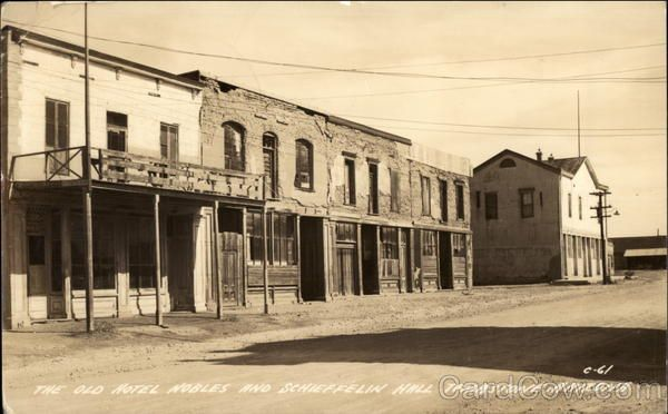The Old Hotel Les And Schieffelin Hall Tombstone Az