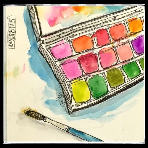 Watercolors  Sketch by Roben-Marie