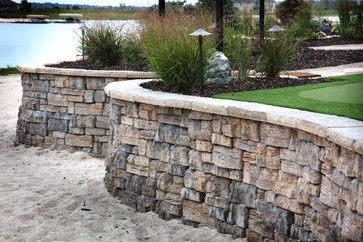 Lakefront property traditional patio omaha clear for Lakefront landscaping photos