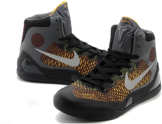 low priced c28ba abd27 Kobe 9 Shoes For Women Yellow Grey Black4